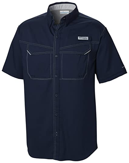 1cc0f9baf7c Columbia Men's Low Drag Offshore Short Sleeve Shirt, UPF 40 Protection,  Moisture Wicking Fabric