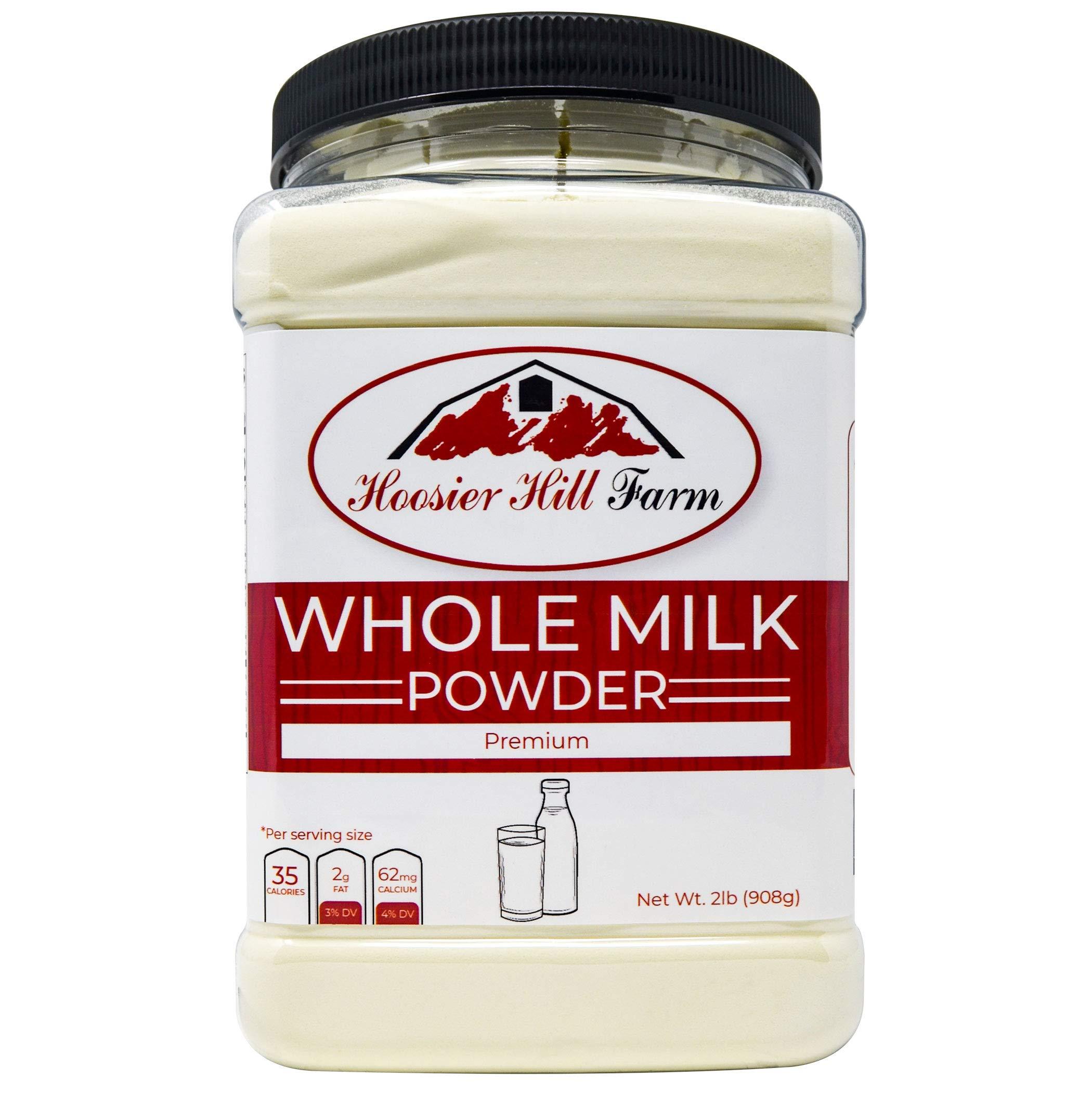 Hoosier Hill All American Whole Milk Powder 2 LBS, Hormone Free, Made in USA by Hoosier Hill Farm