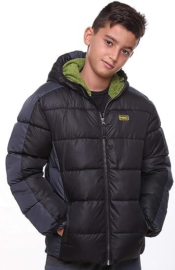 Boys Bubble Winter Coat Insulated Fleece-Lined Hooded Weatherproof Puffer Jacket