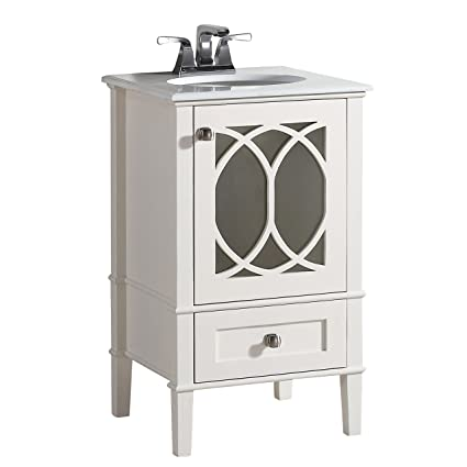 Simpli Home 3axcvpaw 20 Paige 20 Inch Contemporary Bath Vanity In