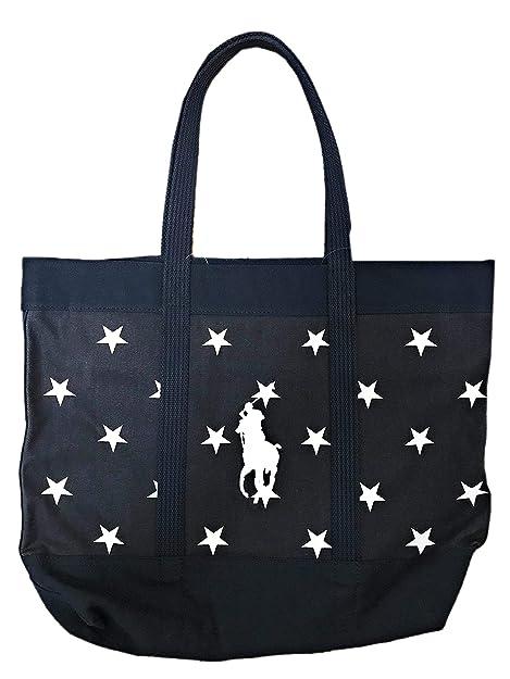 Ralph Lauren Polo Bolso de algodón para mujer, diseño de estrellas ...