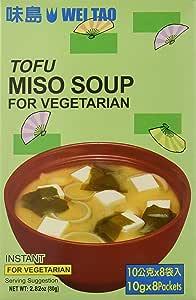 Wei Tao Sopa Miso Vegetariana - 80 gr: Amazon.es