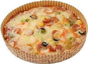 OJelay Round Paper Baking Pan/Tart Pan 6 Inch Cake Pan Heat Resistant 20 pcs Disposable Pizza Rolls Baking Deep Dish Pie Quiche Pan Oven Liner