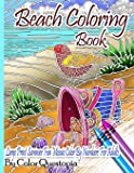 Beach Coloring Book- Large Print Summer Fun Mosaic Color By Numbers For Adults: Ocean Art For Stress Relief and…