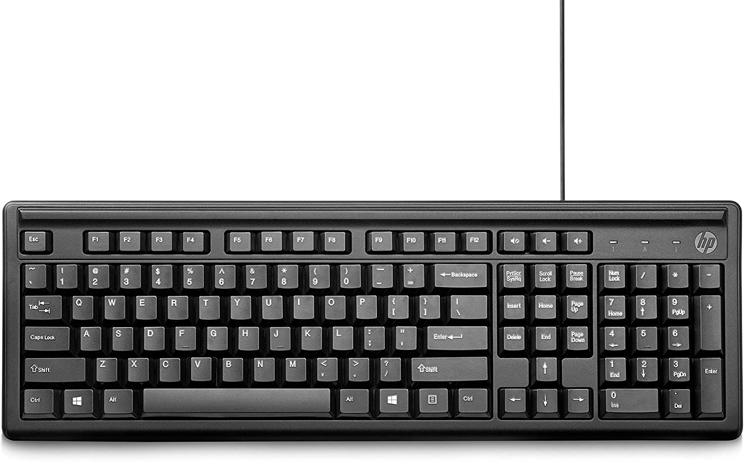 Amazon In Buy Hp 100 Wired Usb Keyboard Online At Low Prices In India Hp Reviews Ratings
