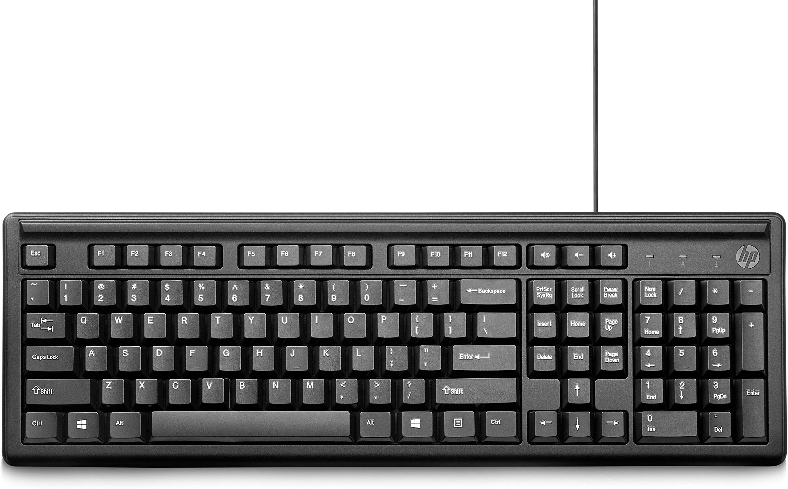 HP 100 Wired USB Keyboard product image