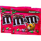M&Ms Limited Edition Strawberry Nut / M&Ms Almond Resealable Zipper Family Size (Strawberry Nut, 2)