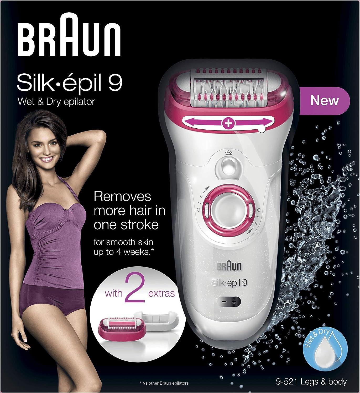 Braun Silk-épil 9 9 – 521 – Depiladora Wet & Dry sin cable ...