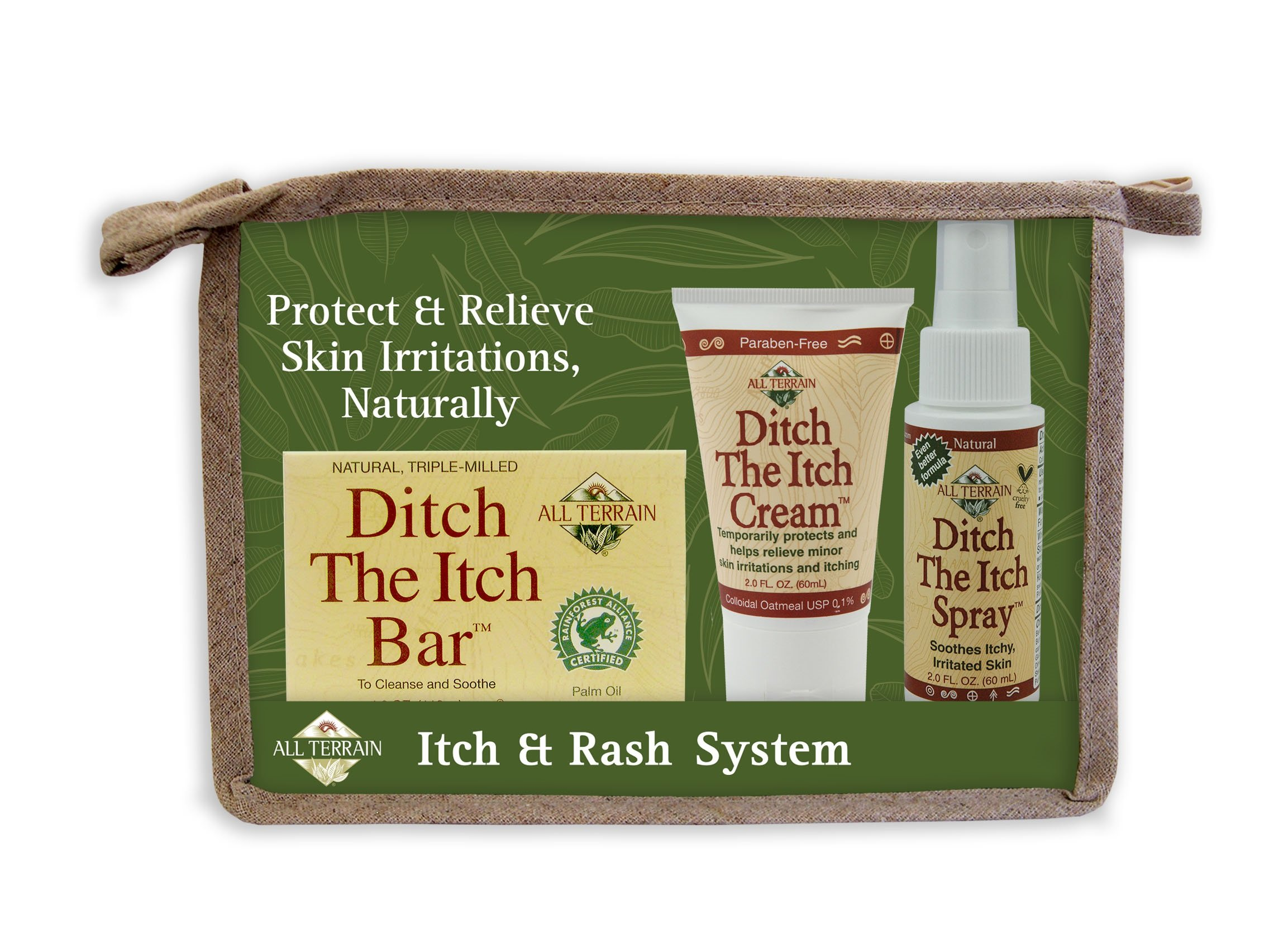 All Terrain Natural Itch & Rash System, (Bar, Cream, Spray) Helps Relieve Minor Skin Irritations & Itching Due to Poison Ivy, Oak, Sumac by All Terrain