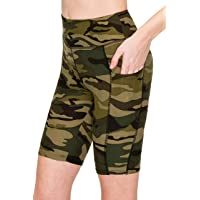 ALWAYS Women Bike Shorts with Pockets - Premium Soft Buttery Yoga Legging Pants