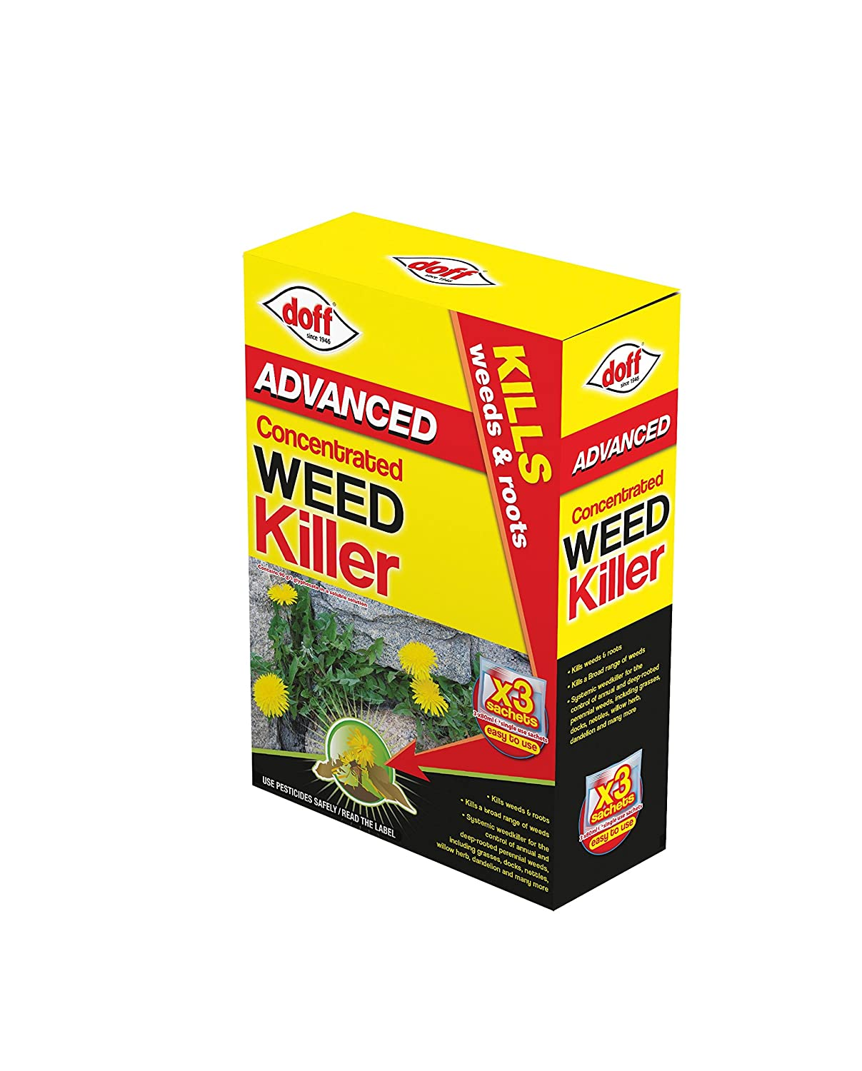 Super Advanced Concentrated Weedkiller 3 X Sachets F Fw 003 Dof Doff Pel