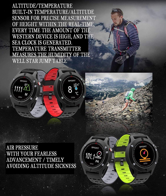 Amazon.com: OGEDA Men F5 GPS Smart Watch Altimeter Barometer ...