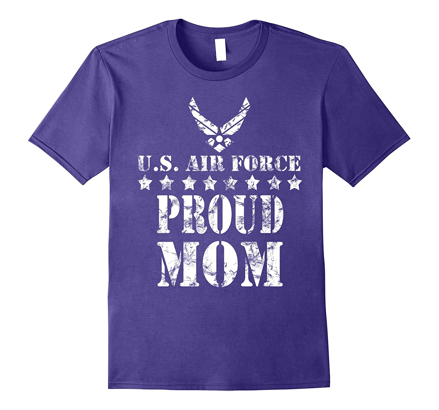 Air Force Proud Mom U.S. Air Force Stars T-shirt-Art