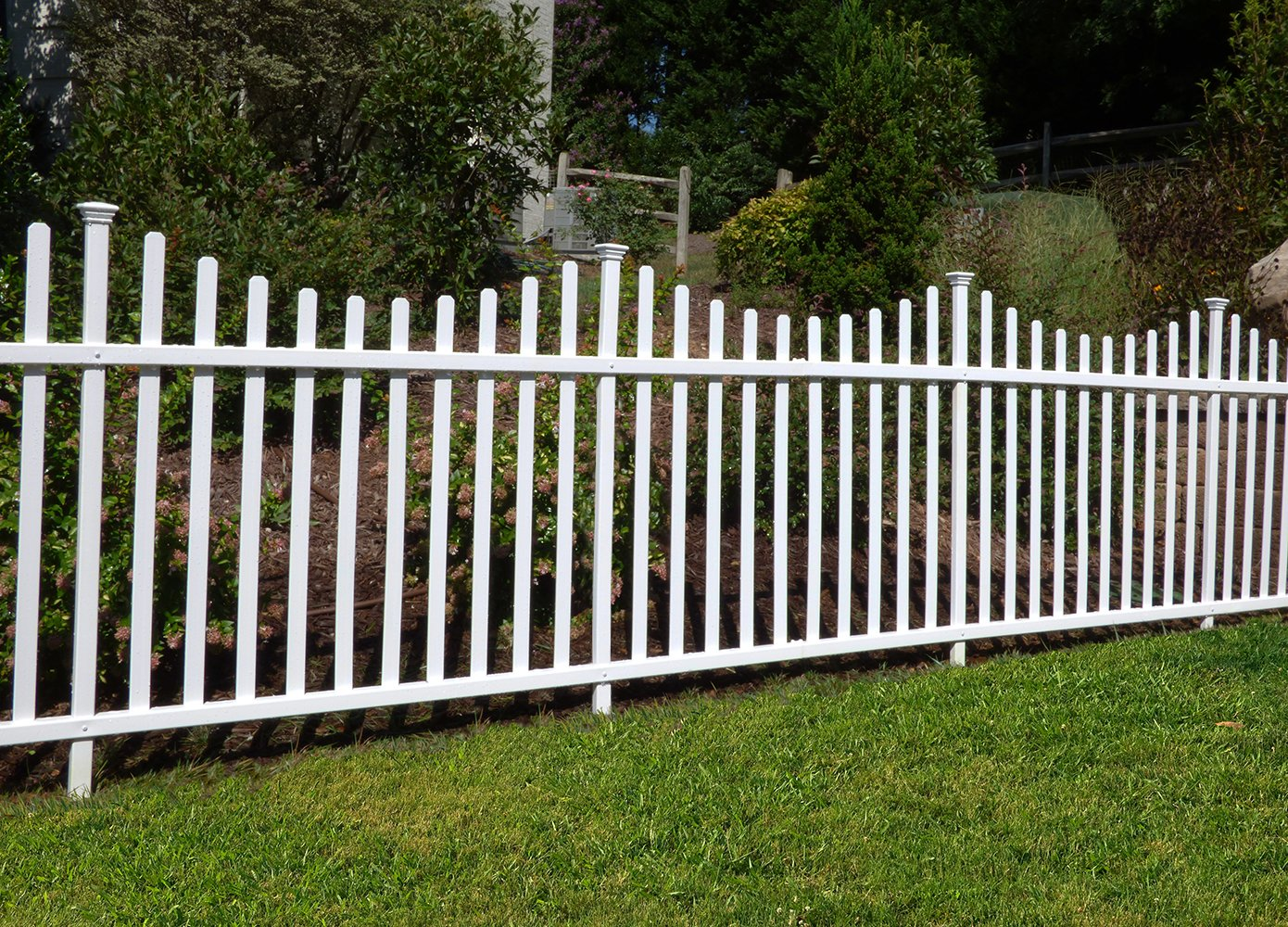 Zippity Outdoor Products Manchester Semi-Permanent Vinyl Fence Kit (2 Pack), 42