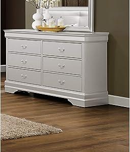 Global Furniture USA Marley, Dresser, Silver