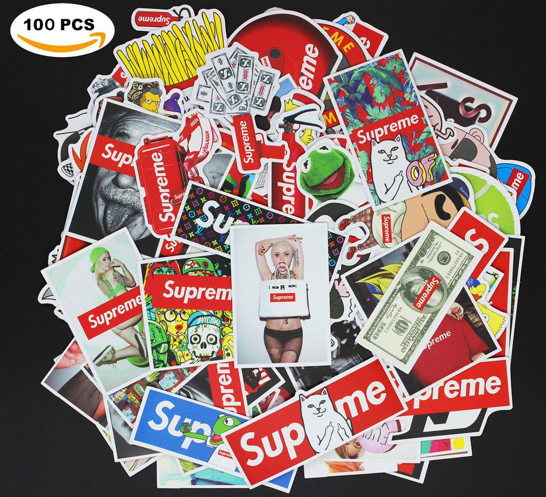 Fashion Laptop Stickers Waterproof Skateboard Pad Macbook Car Snowboard Bicycle Luggage Decor (100pcs)