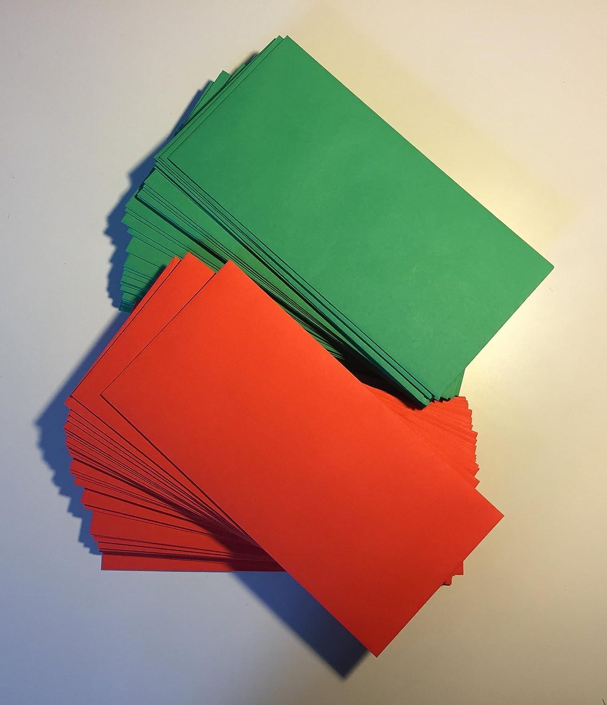 100 buste per lettera, rosso e verde, 220 x 110 mm, chiusura autoadesiva, buste per natale umschlag-discount U354-64DLH