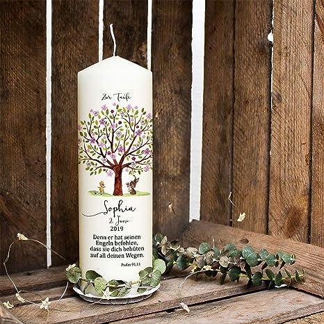 Ilka Parey Wandtattoo Welt Taufkerze Kerze Zur Taufe Baum Rosa Hase Entchen Wunschname Spruch Individualisierbar Wk121 Ausgewählte Größe 1