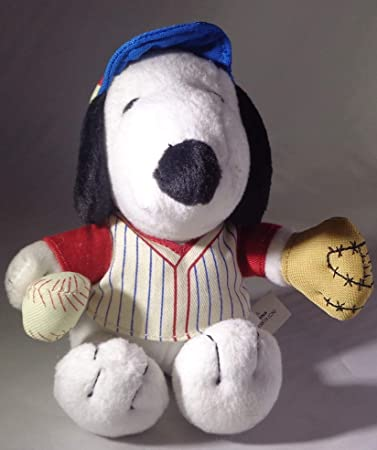 "6/"" stuffed PEANUTS plush MetLife BASEBALL SNOOPY"