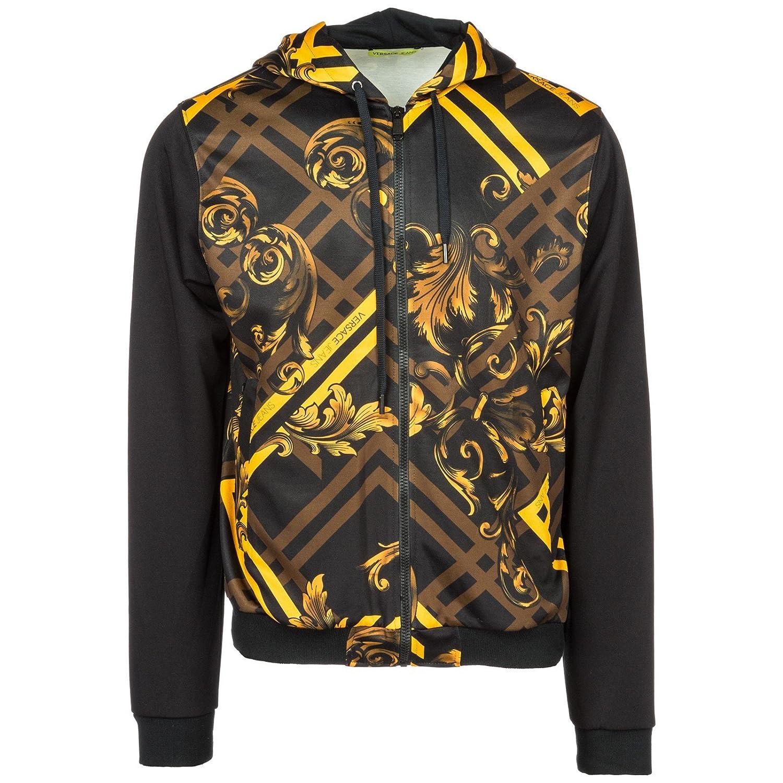Versace Jeans Sudadera con Cremallera Hombre Nuevo Negro EU M (UK M) B7GSB7F2: Amazon.es: Ropa y accesorios
