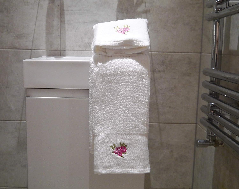 Asciugamani in cotone pettinato 100/% cotone colore: Rosa 50 x 85 cm Lexs Linens