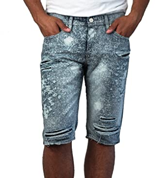 4e4ab524781985 Image Unavailable. Image not available for. Color  Jordan Craig Men s  Splatter Shredded Denim Shorts from Legacy Edition