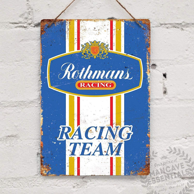 uwuzihuisho Agip Vintage Racing Shed Garage Fuel Oil Blechschild Blechschild 19,8 x 30 cm A931