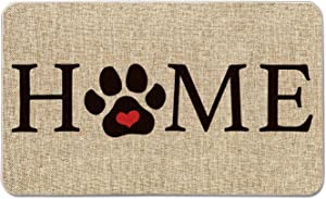 Artoid Mode Home Paw Decorative Doormat, Pet Dog Cat Thanksgiving Low-Profile Floor Mat Switch Mat for Indoor Outdoor 17 x 29 Inch