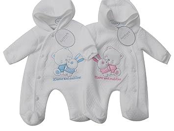 BNWT bebé niños niñas prematuro Preemie todo en uno con capucha ...