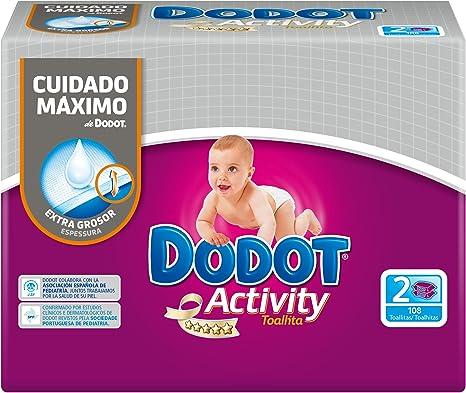 Dodot - Activity toallitas - 2 x 54 toallitas: Amazon.es: Salud y ...