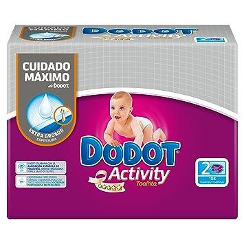 Dodot - Activity toallitas - 2 x 54 toallitas: Amazon.es: Salud y cuidado personal