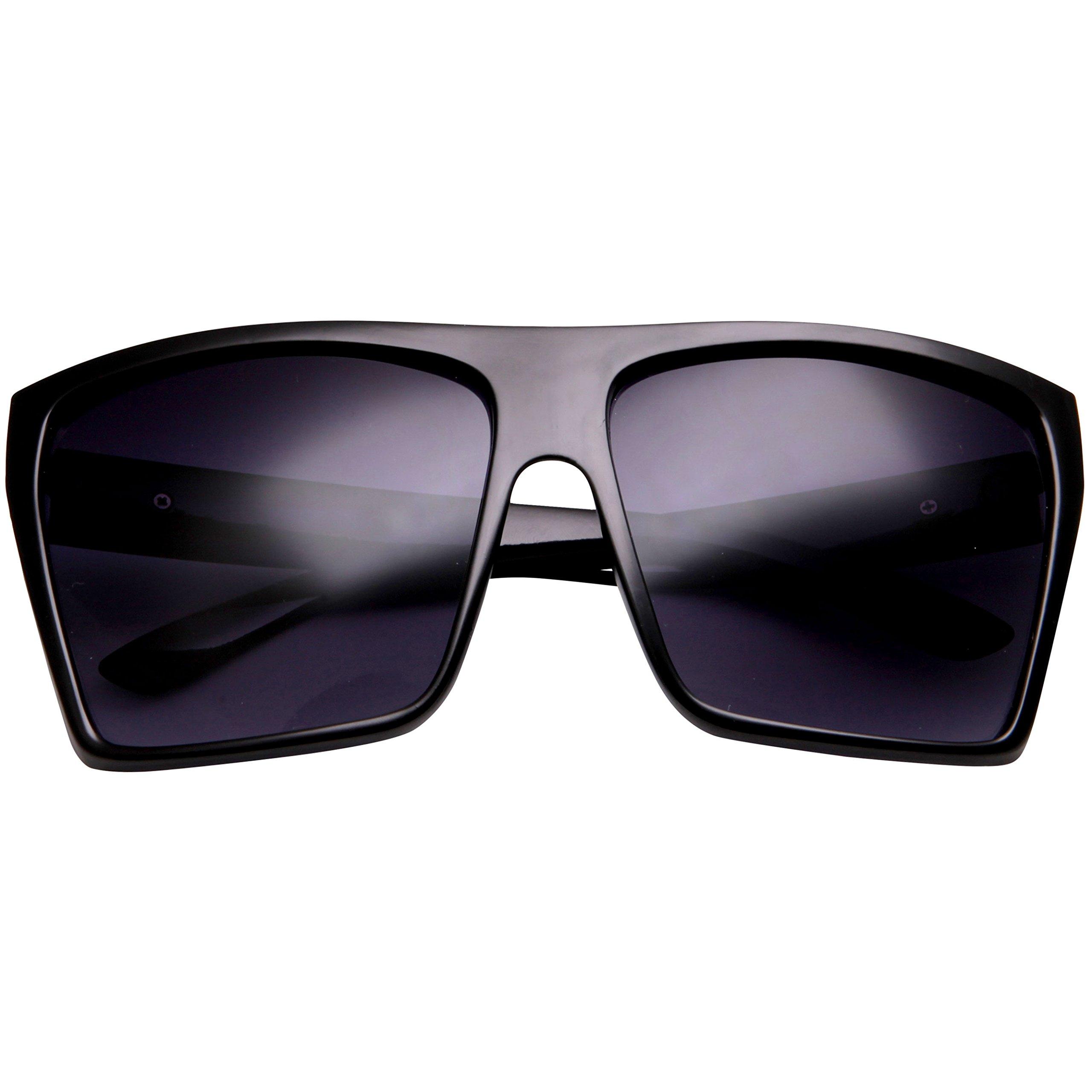 XL Sunglasses for Men Extra Large Retro Style Square Aviator Flat Top Sunglasses Shades