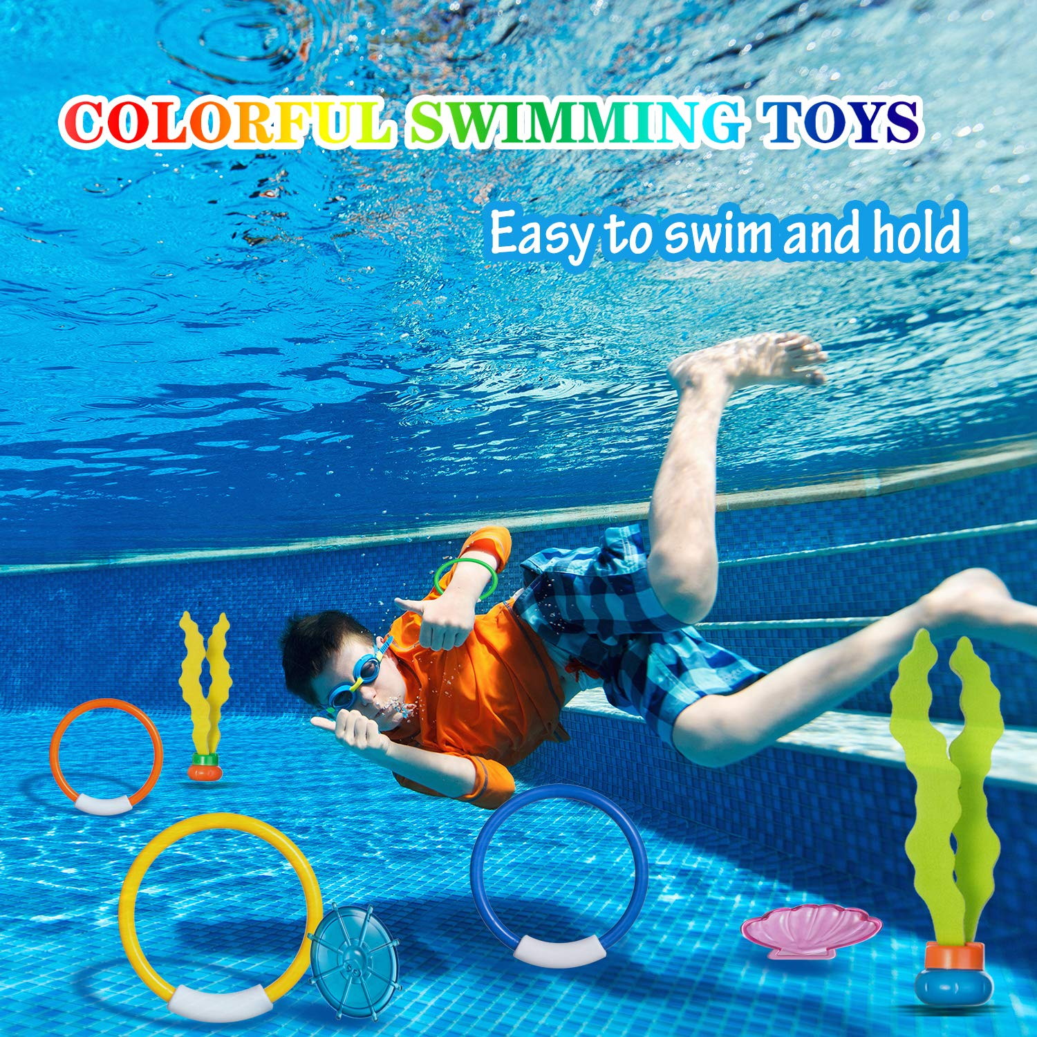UTTORA Diving Toys Underwater Swimming Pool Toys Diving Game Training Gift for Kids Boys Girls