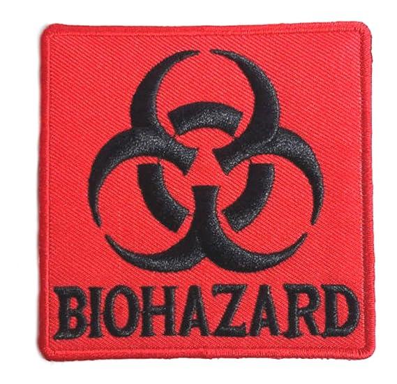 Amazon Outlander Gear Biohazard Symbol 3 Red Logo Embroidered