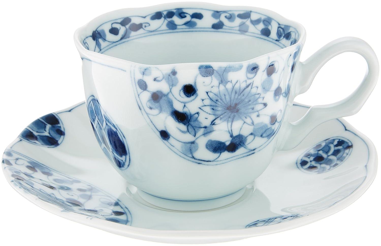 10個セット カップ&ソーサー 花伊万里コーヒー碗皿 [皿15.5 x 2.5cm] 洋食器 カフェ レストラン コーヒー 業務用 ホテル B00RZBFTIU