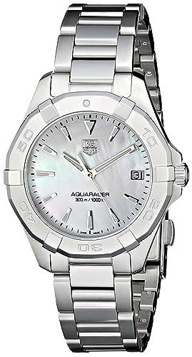 TAG Heuer Women s WAY1312.BA0915 Aquaracer Analog Display Quartz Silver Watch