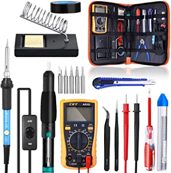 UK 60W Adjustable Temp Soldering Iron Kit Electronics Welding Solder Irons Tools