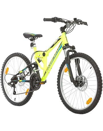 Bikesport PARALLAX Bicicleta De montaña Doble suspensión 24 ruedas, Shimano 18 velocidades