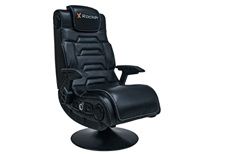 Excellent X Rocker Pro 4 1 Pedestal Gaming Chair With 4 1 Wireless Audio System And Subwoofer Faux Leather Black Uwap Interior Chair Design Uwaporg