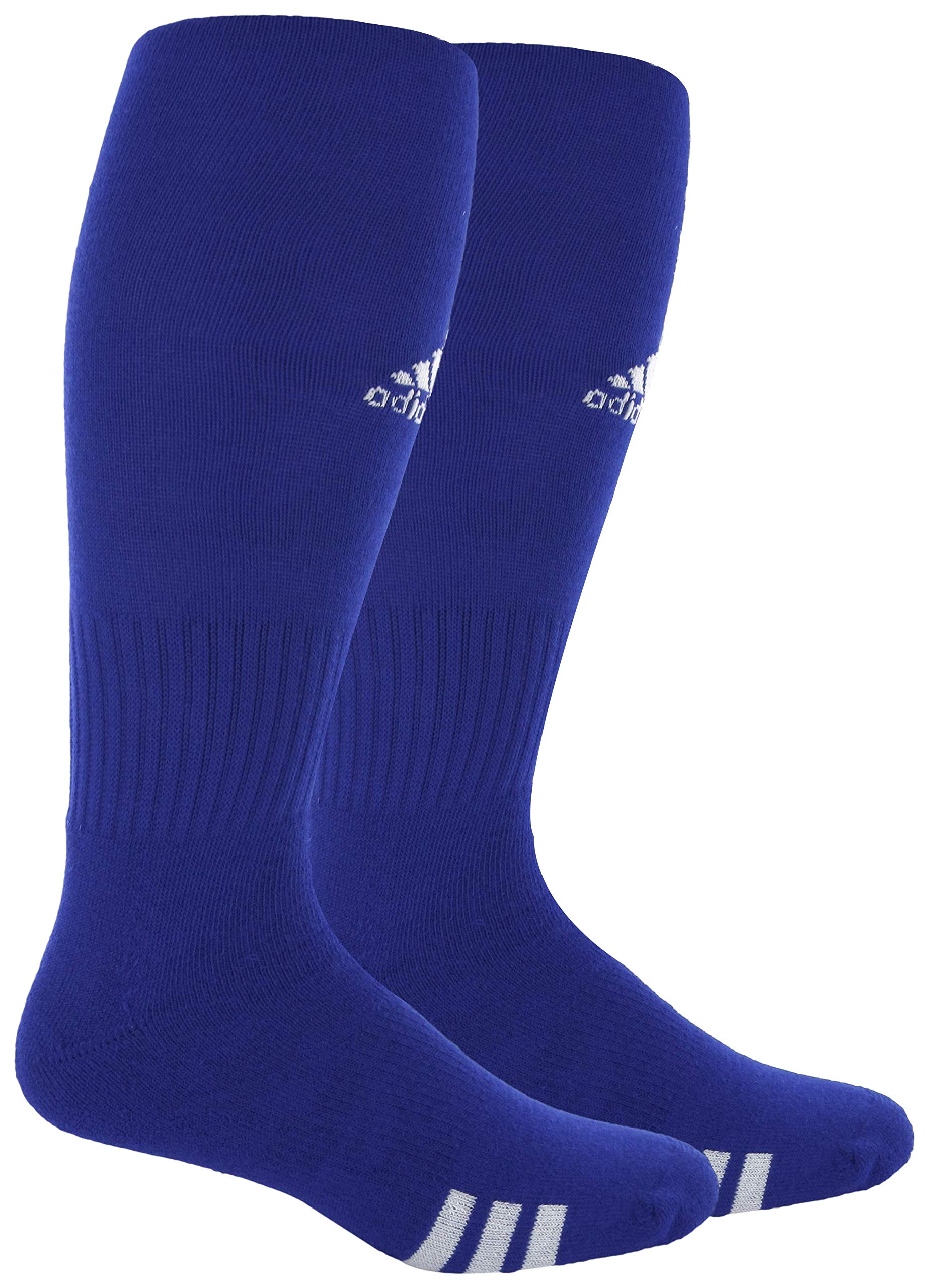 adidas Unisex Rivalry Field OTC Sock (2-Pair), Cobalt/White, 9-13 by adidas