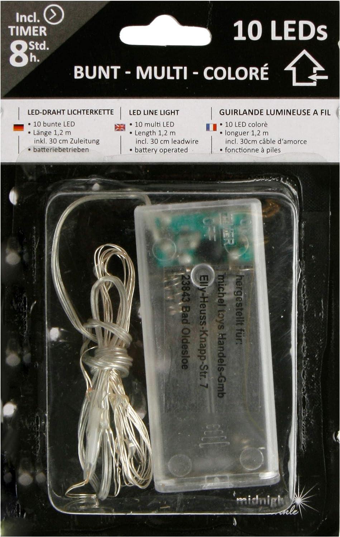 Batteriebetrieb LED Micro Draht-Lichterkette mit Timer-Funktion Gr/ün, 40 LEDS