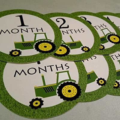 Monthly Baby Stickers. Tractor Onesie Month Stickers. Tractor, Farm: Kitchen & Dining