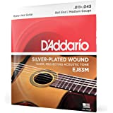 D'Addario EJ83M Gypsy Jazz Acoustic Guitar Strings, Ball End, Medium, 11-45