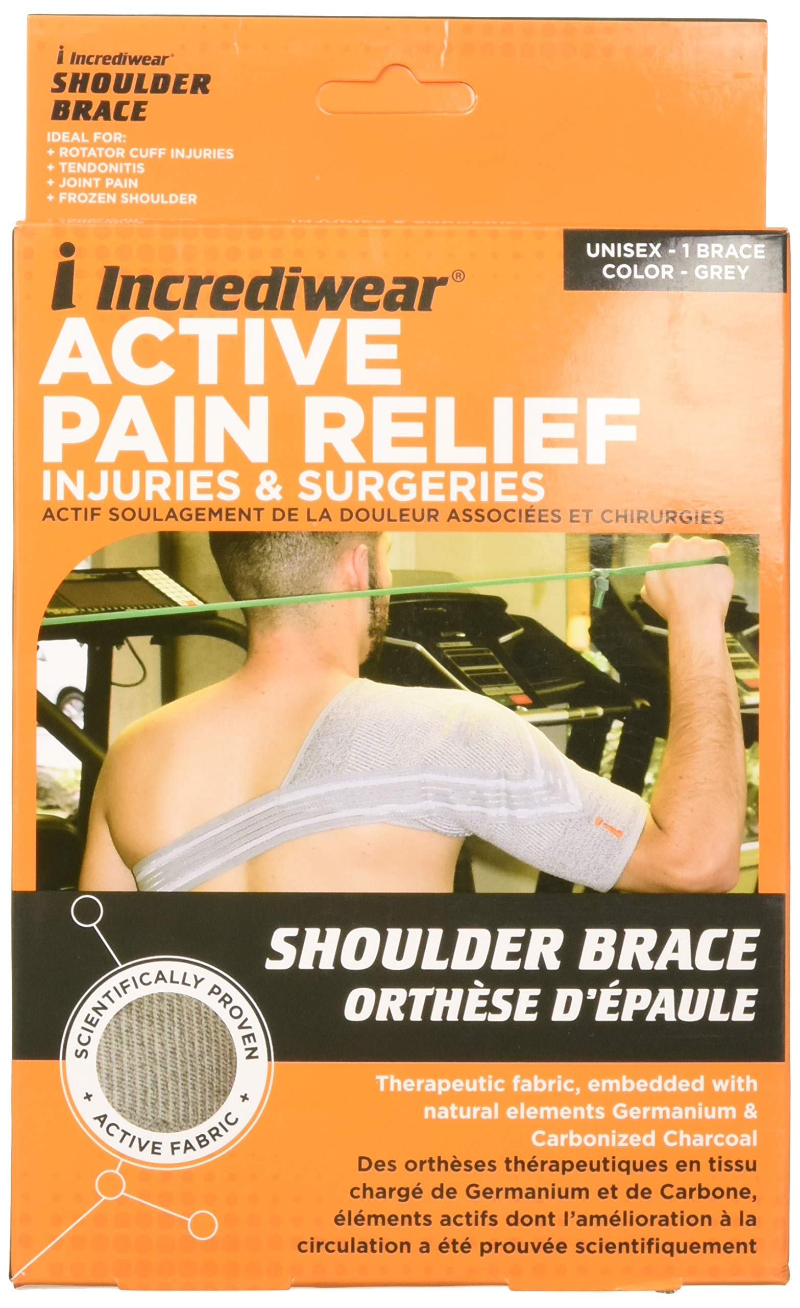 INCREDIWEAR Shoulder Brace, Grey, Medium, 0.03 Pound by Incrediwear