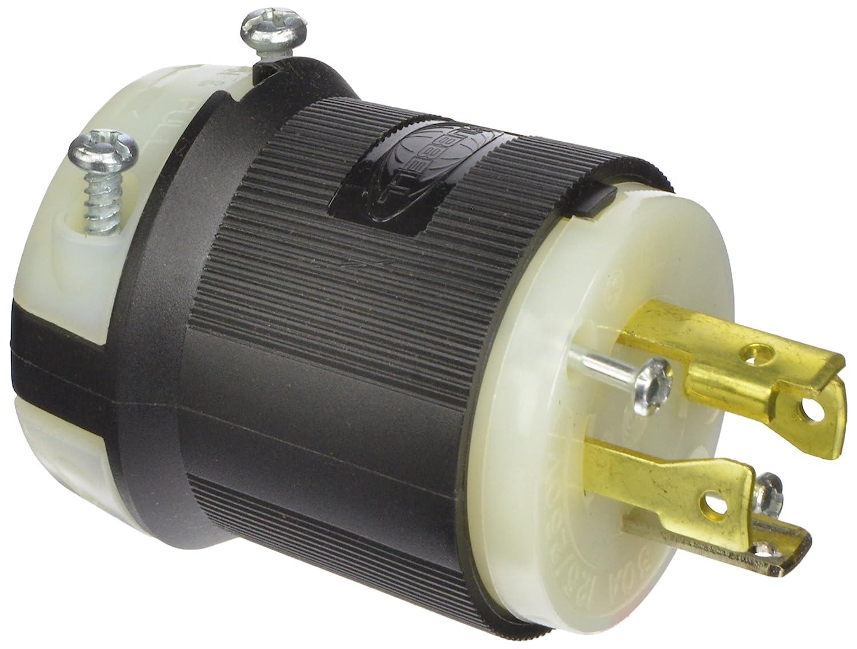Hubbell HBL2711 - NEMA L14-30P Twist Lock Plug, Rated 30A, 125/250V ...