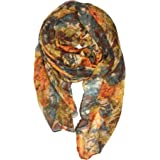 YOUR SMILE Ladies/Women's Lightweight Floral Print/Solid Color mixture Shawl Scarf For Spring Summer season