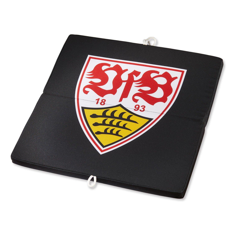 VfB Stuttgart Sitzkissen schwarz / Stadionkissen mit Wappen ca 36 x 36 cm Kissen / Stadionkissen StuhlkissenFANARTIKEL