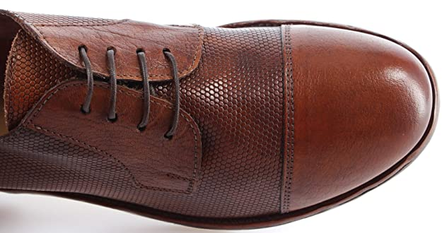 MOMA! Men's Classic Shoes 22805 BB BUFALO Leather Brown Made