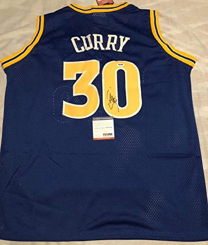 f20b25a7e4e Image Unavailable. Image not available for. Color: Stephen Curry Autographed  Signed Jersey Golden State Warriors Nba Champs PSA/DNA