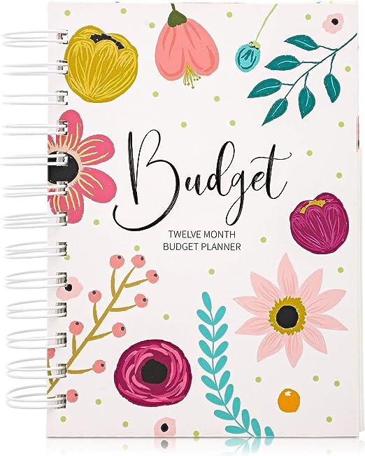 Paper Junkie Money Budget Planner 12 Month Organizer Notebook, 5 x 7 Inches